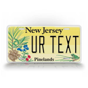 Custom Text New Jersey Pinelands License Plate