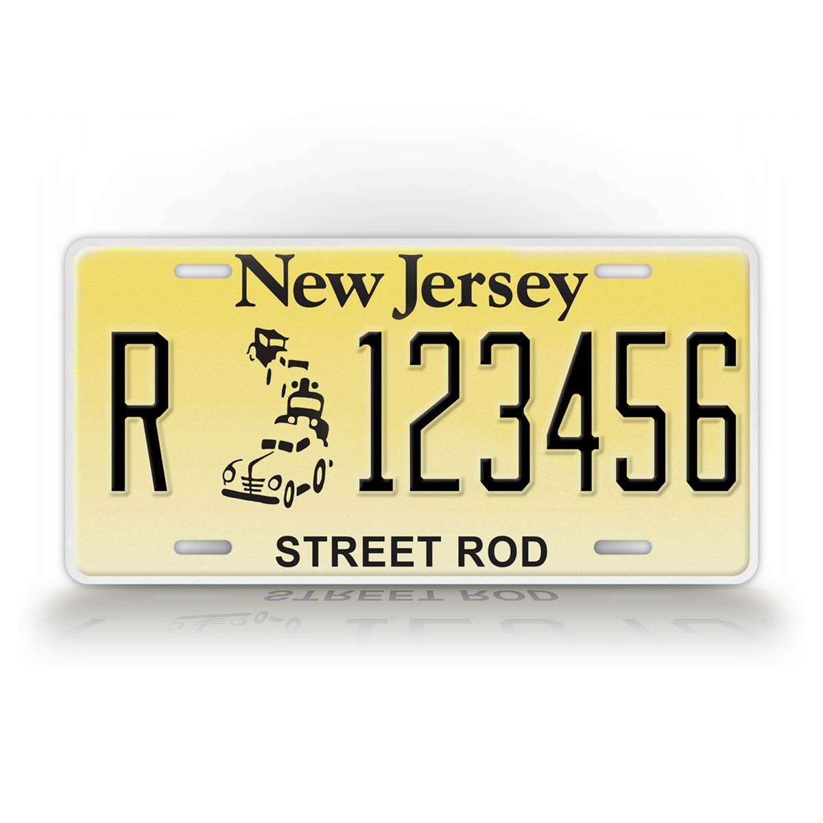 Custom Text New Jersey Street Rod License Plate
