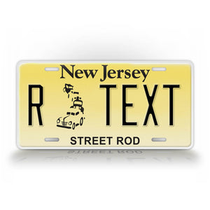 Novelty New Jersey Street Rod License Plate