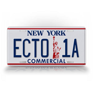 Ghost Busters II New York License Plate Ecto-1 Movie Prop