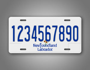 Personalized Text Newfoundland And Labrador Custom Auto Tag