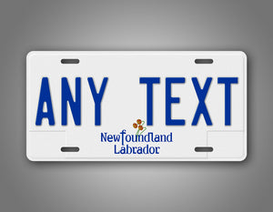 Any Text Personalized Newfoundland And Labrador Auto Tag