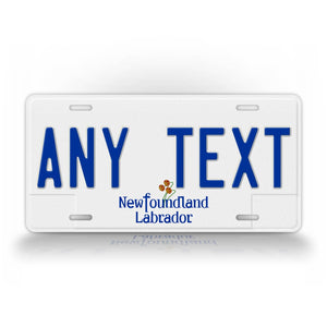 Custom Novelty Newfoundland And Labrador License Plate