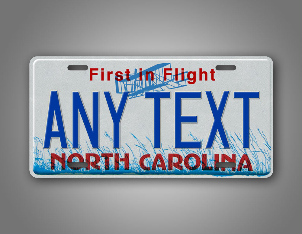 Any Text Custom North Carolina State License Plate Novelty First In Flight Auto Tag