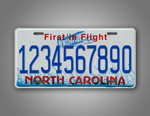 Personalized Text North Carolina Any Text Novelty State License Plate