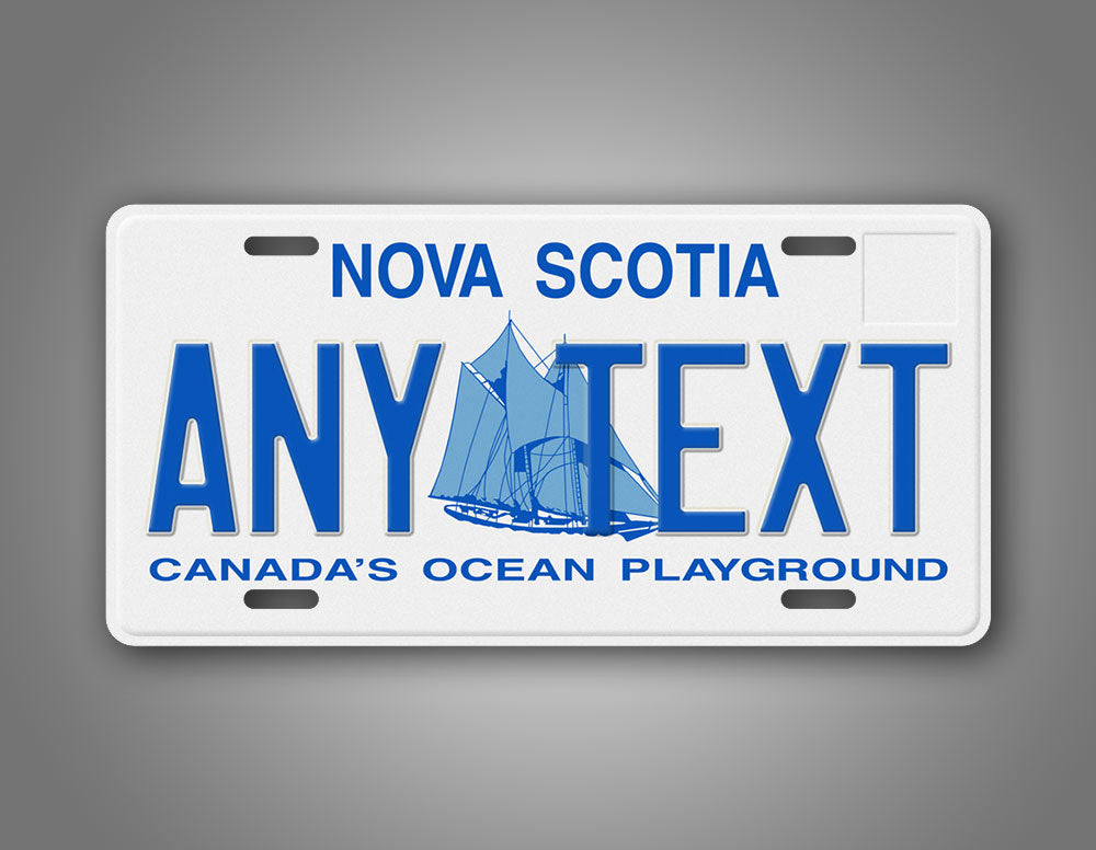 Canada's Ocean Playground Custom Nova Scotia License Plate