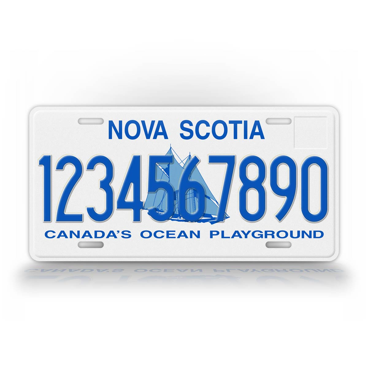 Custom Text nova Scotia Canada License Plate