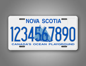 Personalized Text Nova Scotia Novelty License Plate