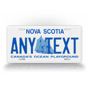 Custom Novelty Nova Scotia Personalized License Plate