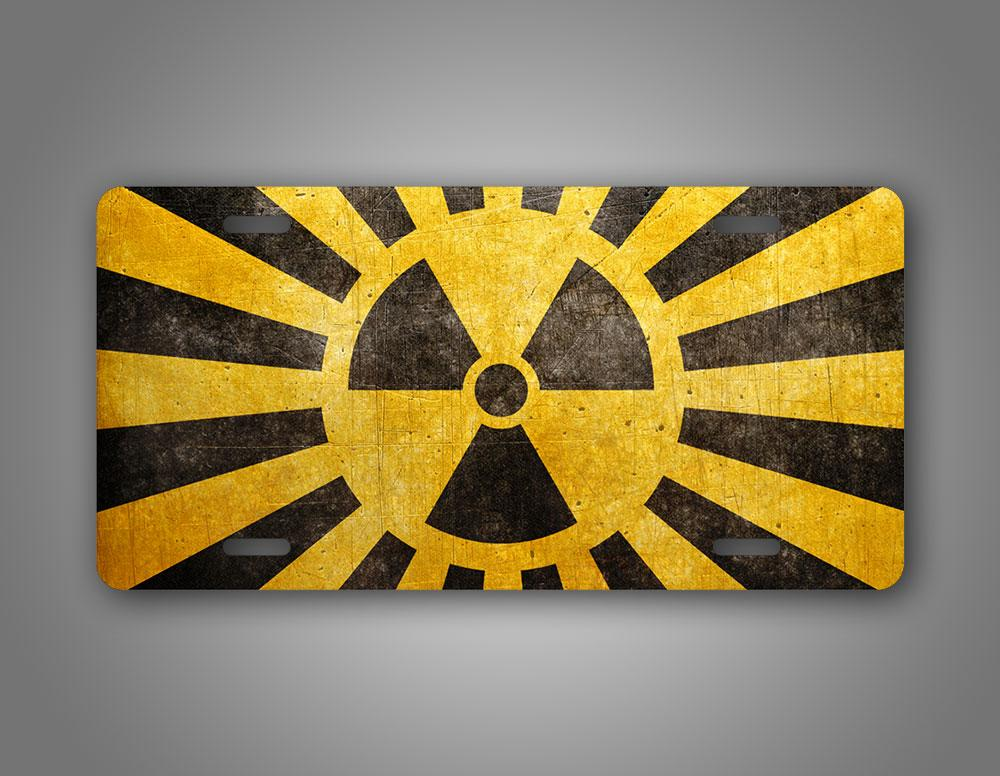 Nuclear Symbol Yellow Auto Tag