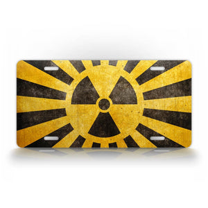 Nuclear Symbol Yellow License Plate