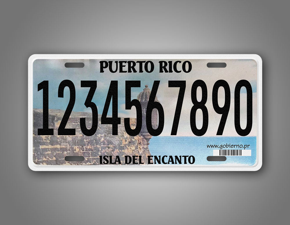 Custom Personalized Puerto Rico Isla Del Encanto License Plate