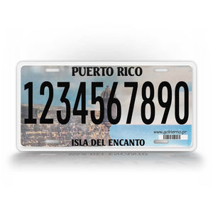 Personalized Text Puerto Rico Novelty License Plate