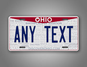 Personalized Ohio Novelty Custom License Plate