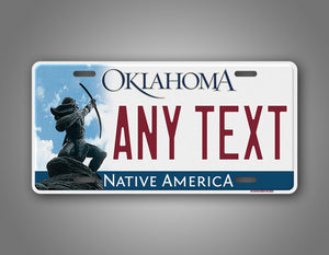 Personalized Oklahoma License Plate With Allan Houser's Sacred Rain Arrow