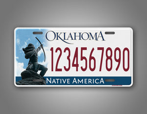 Any Text Custom Oklahoma native America State License Plate