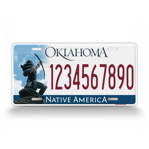 Personalized Text Oklahoma 2009 To 2016 Custom State License Plate