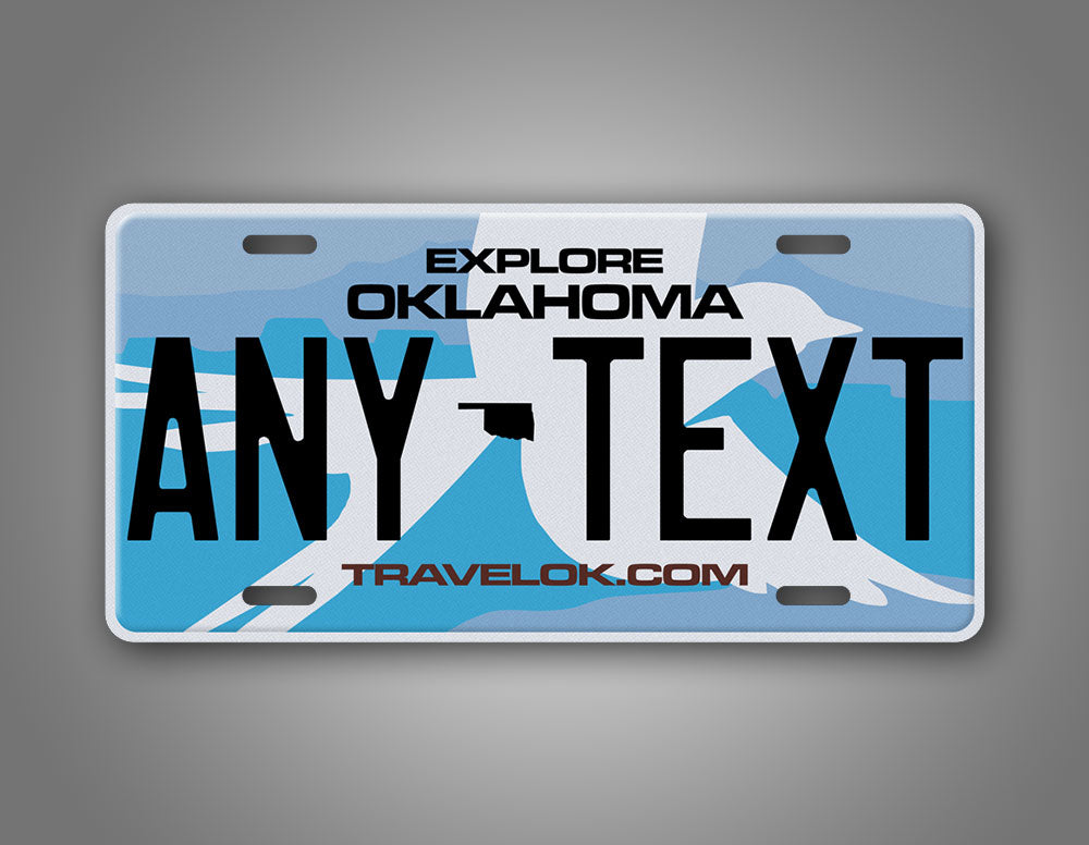 Personalized Oklahoma State Custom License Plate