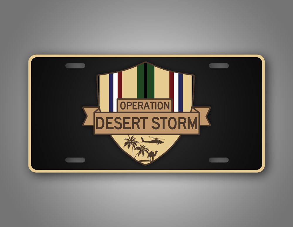 Operation Desert Storm Veteran License Plate Southwest Asia Service Ribbon