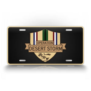 Operation Desert Storm Veteran License Plate Apache Helicopter US Military Veteran