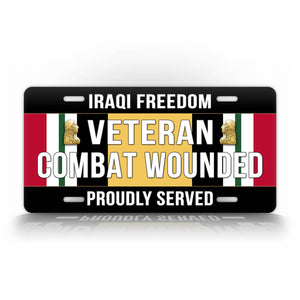 Iraq Campaign Medal Combat Wounded Veteran License Plate