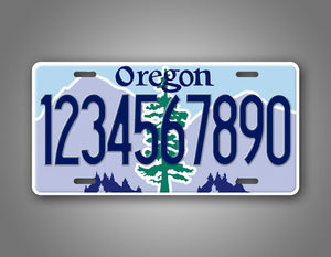 Any text Custom Oregon License Plate