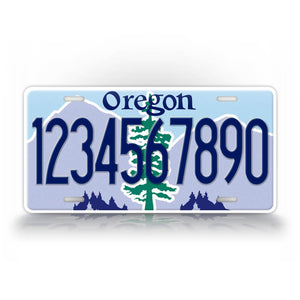Personalized Novelty Oregon State Auto Tag
