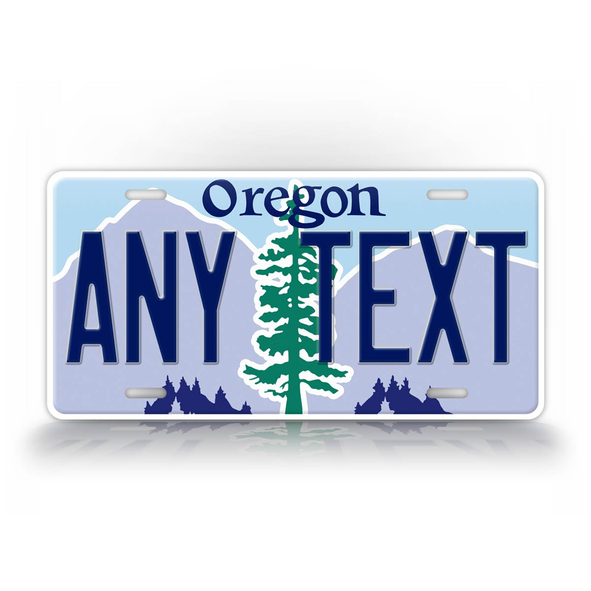 Novelty Personalized Text Oregon License Plate