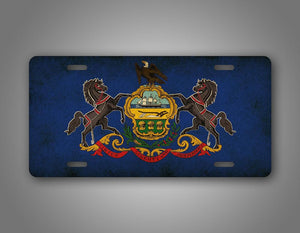 Americana Pennsylavina State Flag License Plate