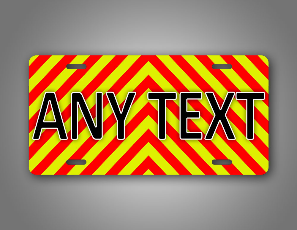 Any Text Ems Emergency Firefighter Personalized License Plate