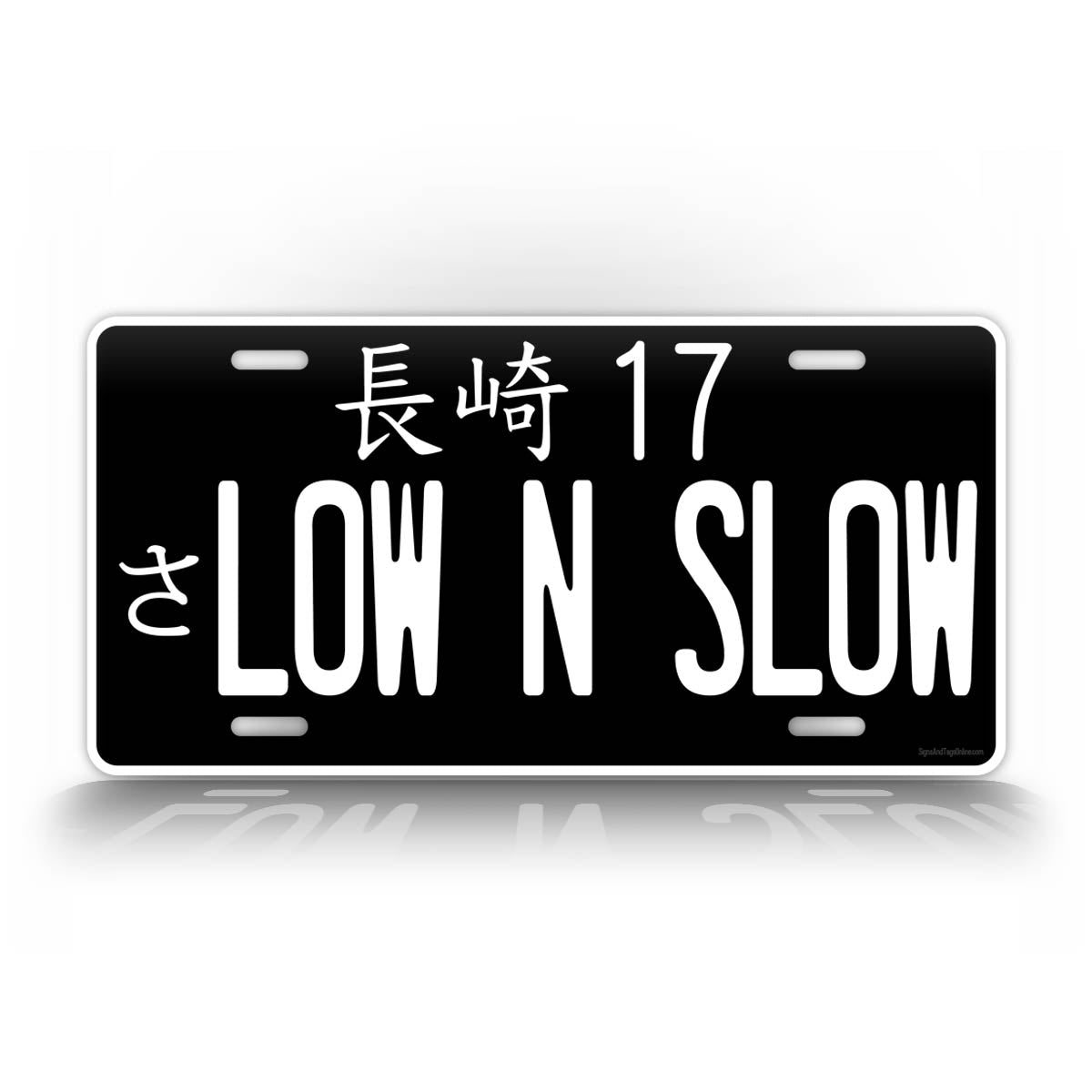 Personalized Inverted Colors Japanese JDM Custom Text License Plate