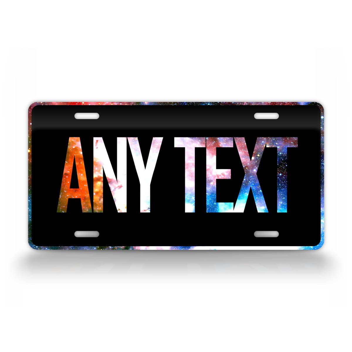 Custom Text Night Sky Galaxy License Plate