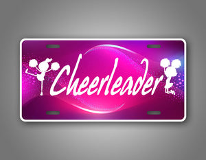 Cheerleader Cheer Girl License Plate