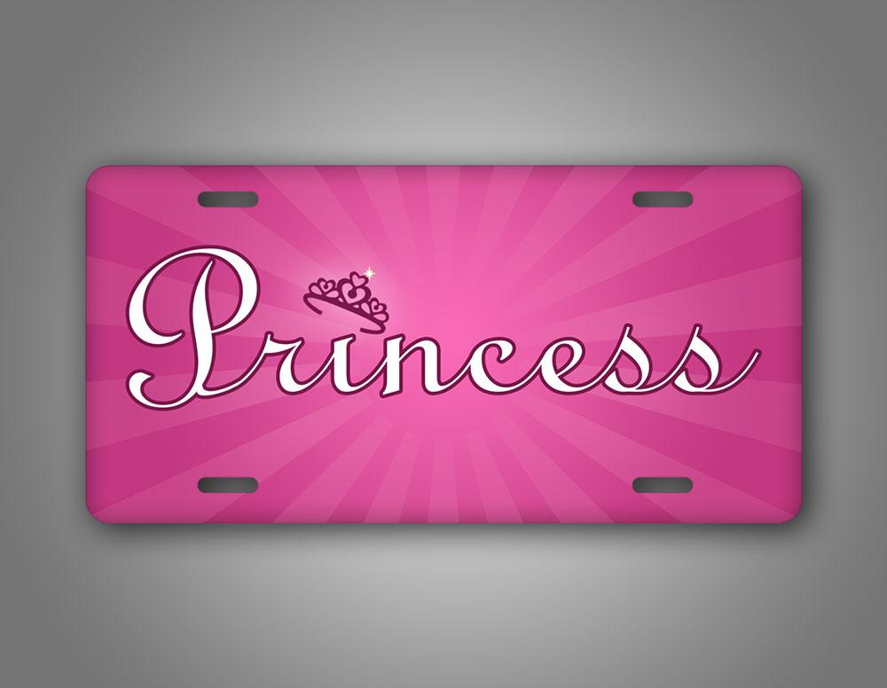 Pink Princess Crown Auto Tag