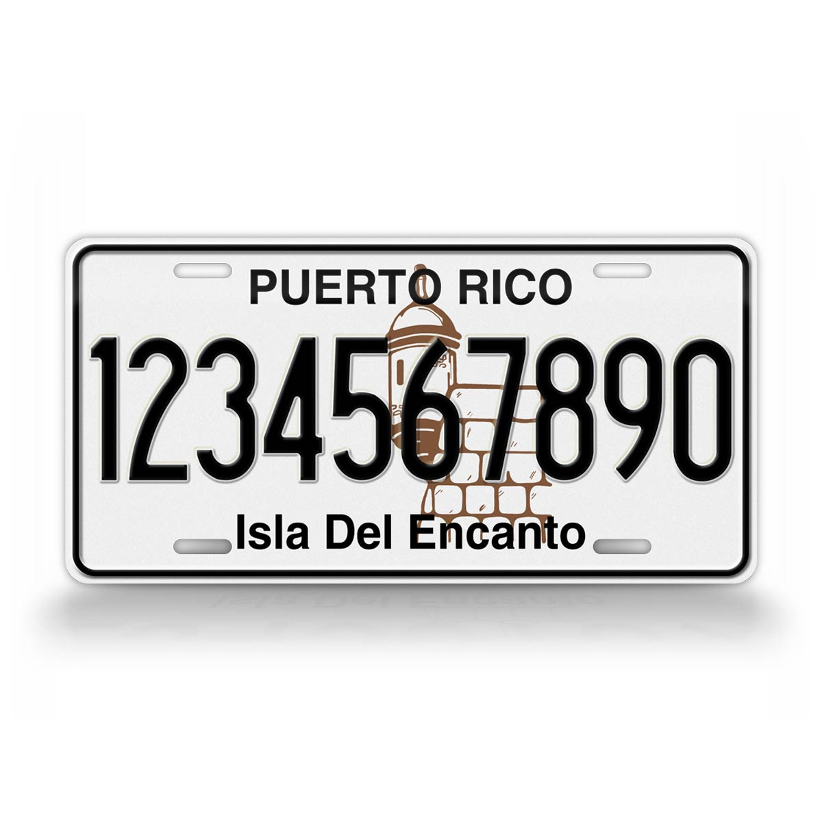 Any Text Vintage Novelty Puerto Rico Isla Del Encanto License Plate