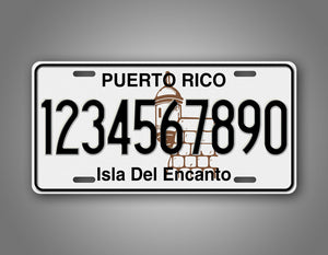 Personalized Puerto Rico Custom Novelty Vintage Auto Tag