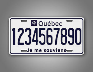 Personalized Quebec License Plate With The Motto Je me souviens