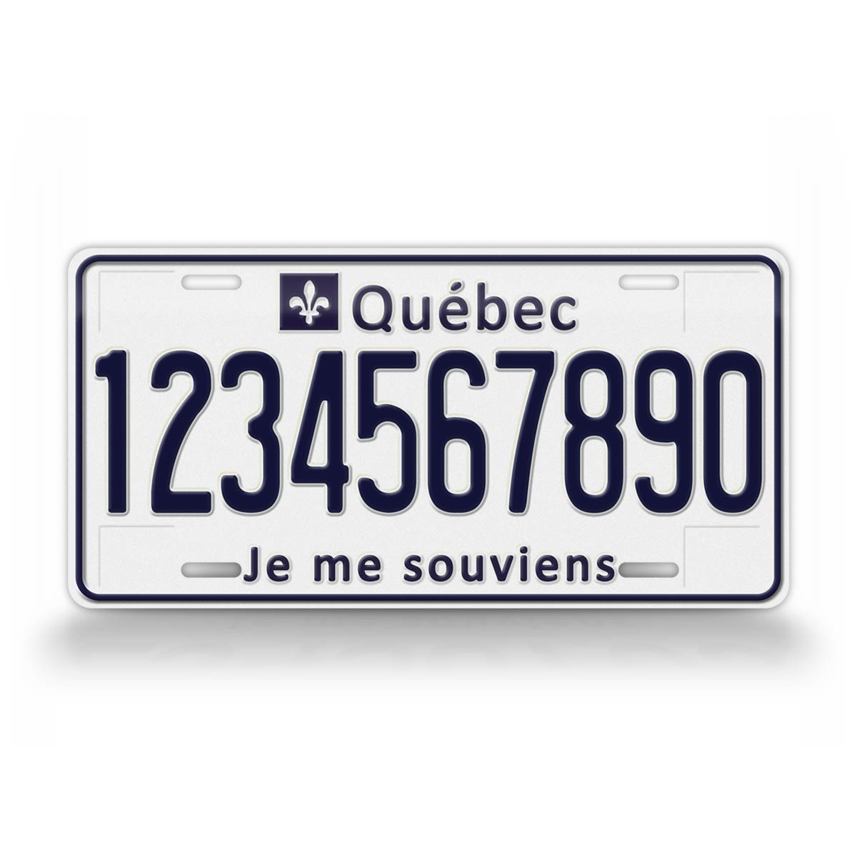 Personalized Text Quebec Canada Novelty License Plate