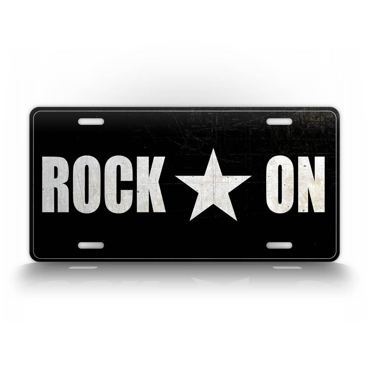 Black And White Rock On Rockstar License Plate