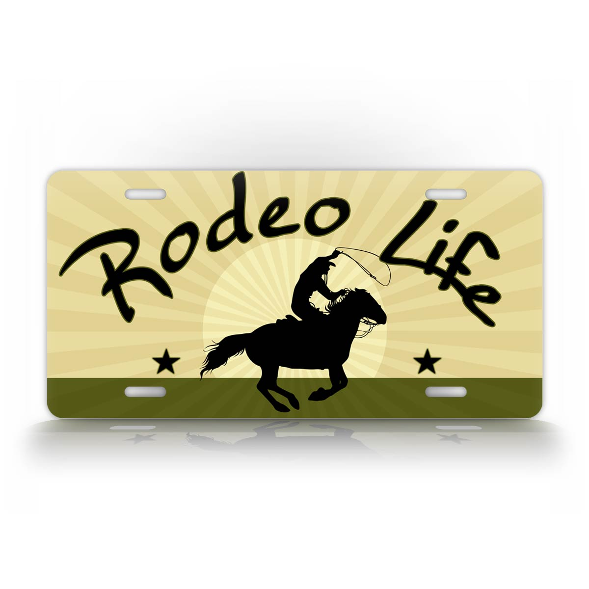 Rodeo Life Cowboy Western Style License Plate