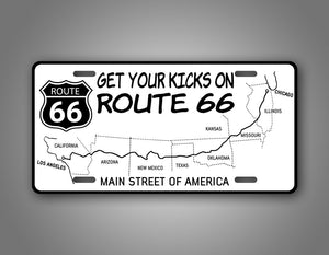 Route 66 Main Street of American License Plate
