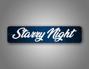 Personalized Night Sky Galaxy Street Sign With Artistic Font