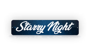 Personalized Night Sky Galaxy Street Sign Artistic