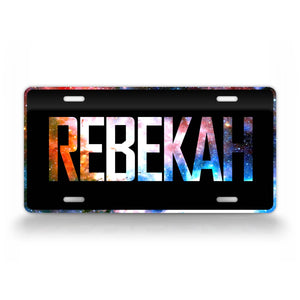 Starry Night Sky Custom Galaxy License Plate