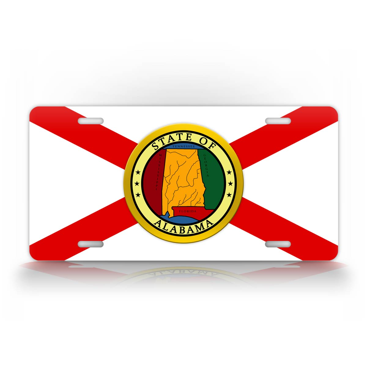 State Of Alabama Flag License Plate