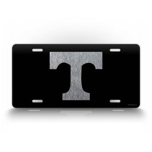 Tennessee State Volunteers Football License Plate Silver Auto Tag
