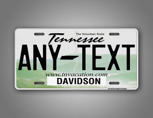 Personalized Text Tennessee State Auto Tag
