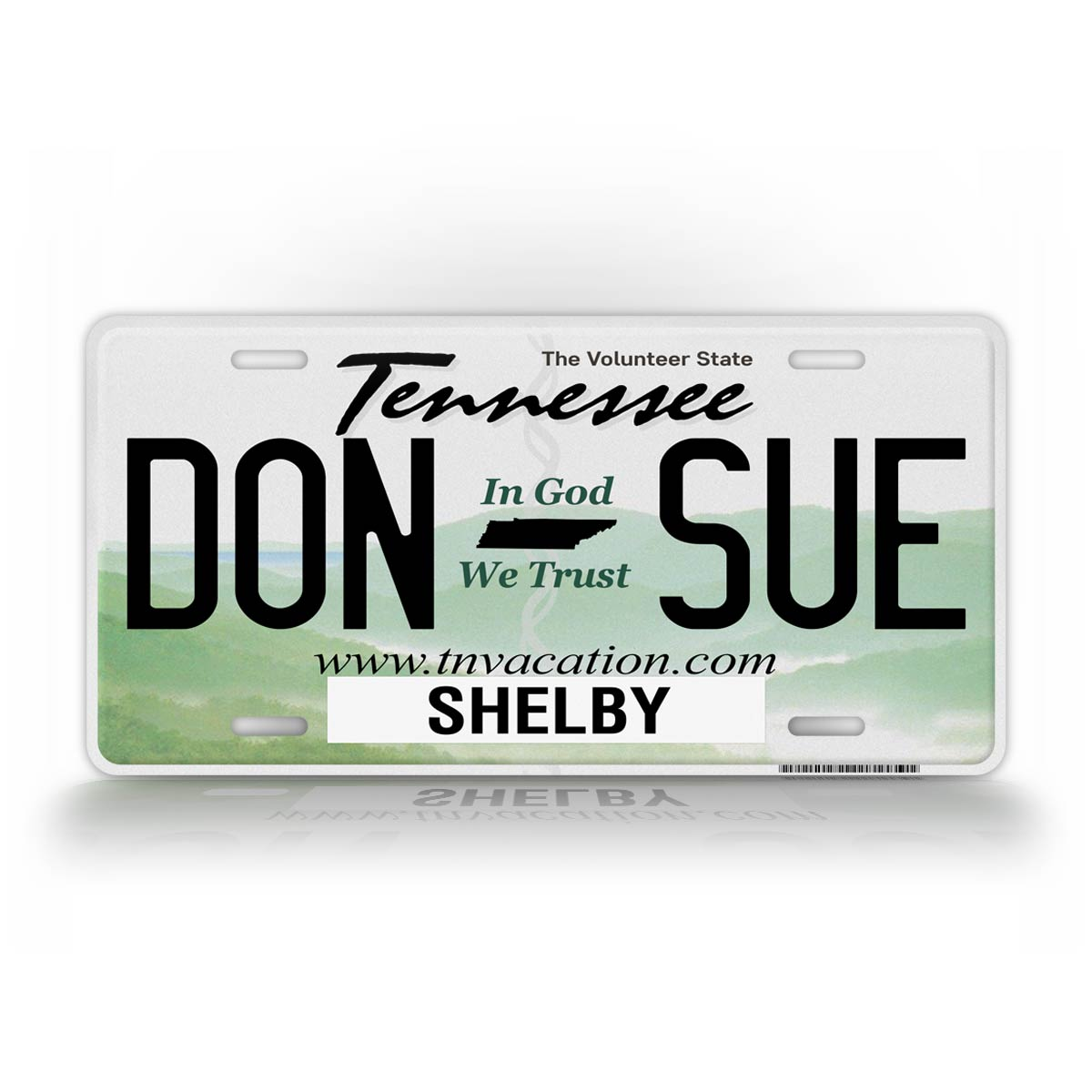 Personalized Any Text Tennessee State Auto Tag