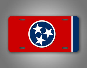 Tennessee State Tri Star Flag License Plate