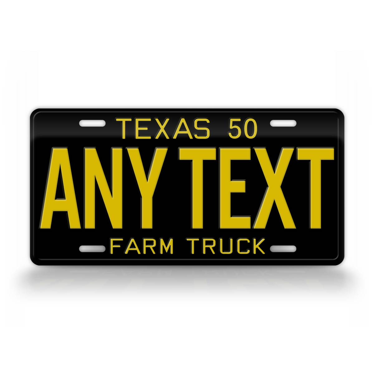 Vintage 1950 Style Texas Farm Truck License Plate